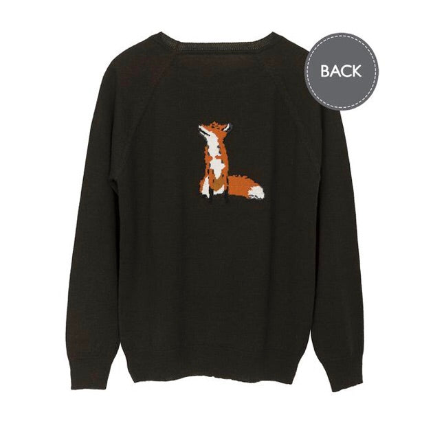 Sophie Allport Green Fox Jumper