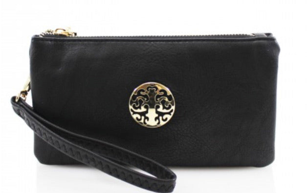 Black Wristlet Mini Clutch Bag