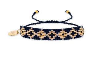 Black & Gold Friendship Bracelet