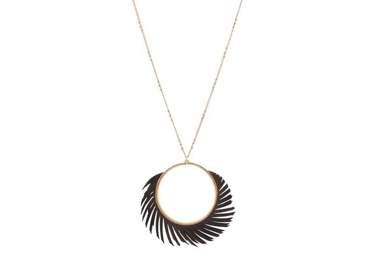 Black Cartwheel Necklace