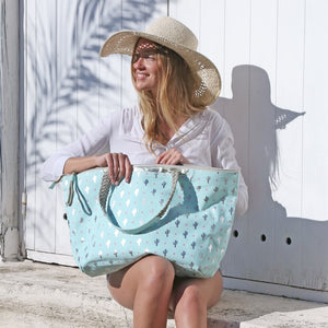 beautiful in colour up-to-datestyling Super discount Aqua,Neon Pink Cactus Beach Bag