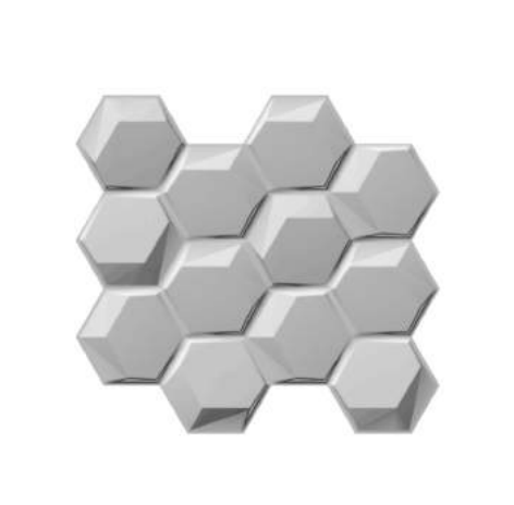 Panou PVC 3D decorativ model Hexagon