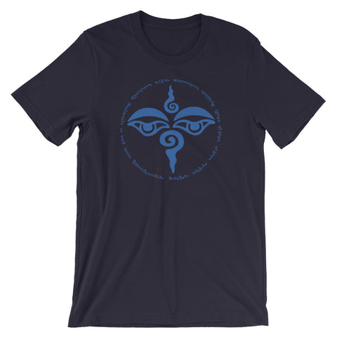 Tibetan Buddha Eyes 100 Syllable Mantra T-Shirt