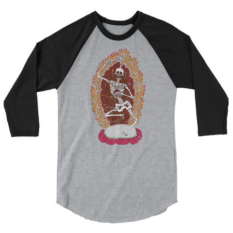 Tibetan Dancing Citipati Skeleton Baseball Shirt