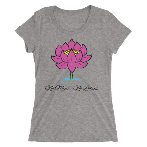 No Mud No Lotus Yoga Women's Tri-Blend T-Shirt - New Revel Apparel
