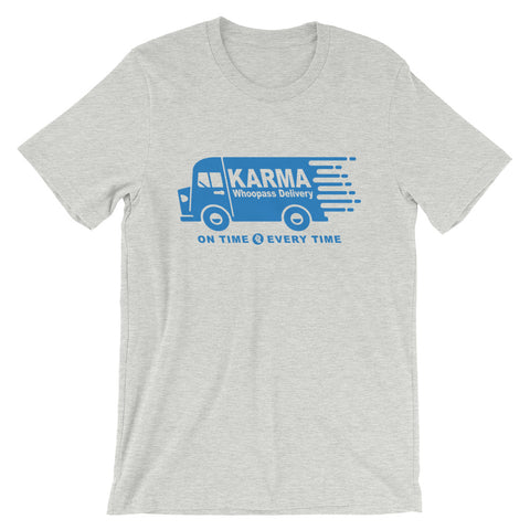 Karma Whoopass Delivery Truck T-Shirt - New Revel Apparel