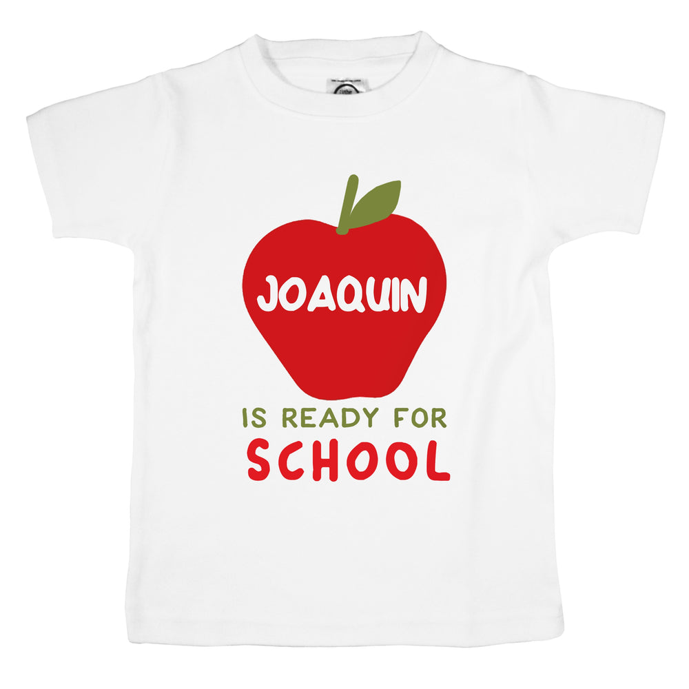 custom name apple back to school first day photo cute unisex kids shirt