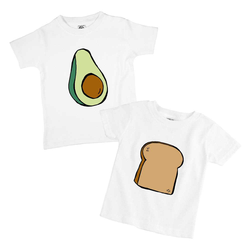 Avocado Toast Organic Cotton Baby Onesie Toddler T-Shirt Twin Siblings Set