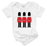 queens guard british soldiers organic cotton baby onesie toddler shirt