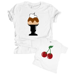 cherry on top ice cream sundae mother daughter son matching mommy and me shirt set baby onesie toddler tshirt mother's day gift idea