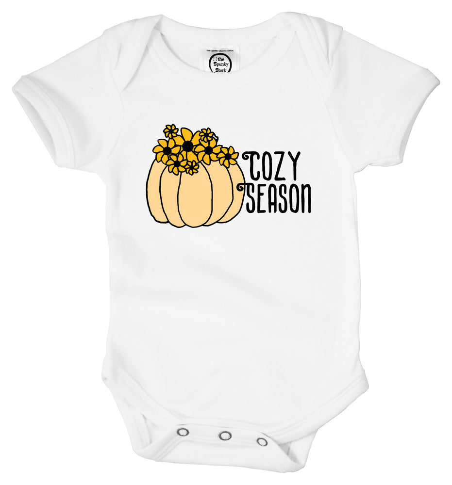 cozy season sweater cuddle weather fall thanksgiving yellow pumpkin baby toddler kids girls graphic tee shirt with sayings