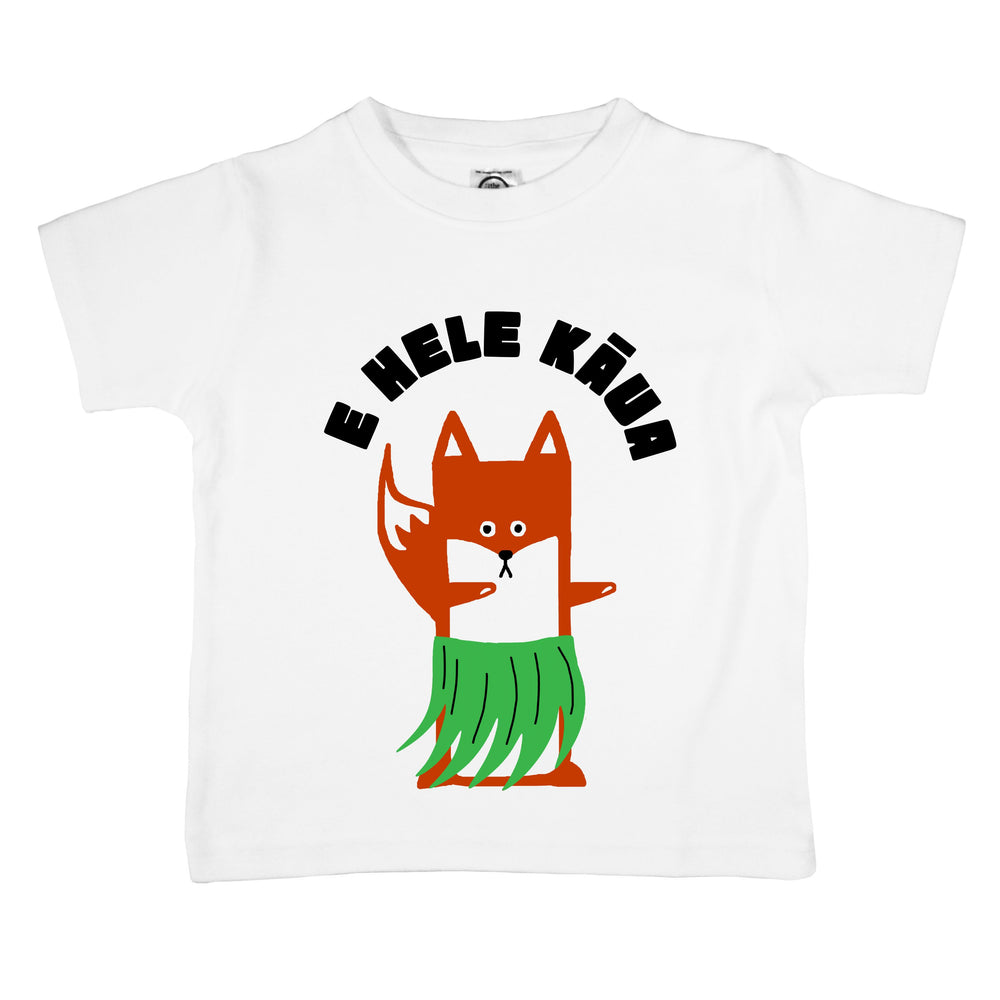 e hele kaua grass hula skirt dance hawaii hawaiian dancing funny toddler kids girls boys organic graphic tee shirt