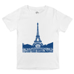 eiffel tower paris photograph unisex organic cotton rench baby onesie toddler shirt