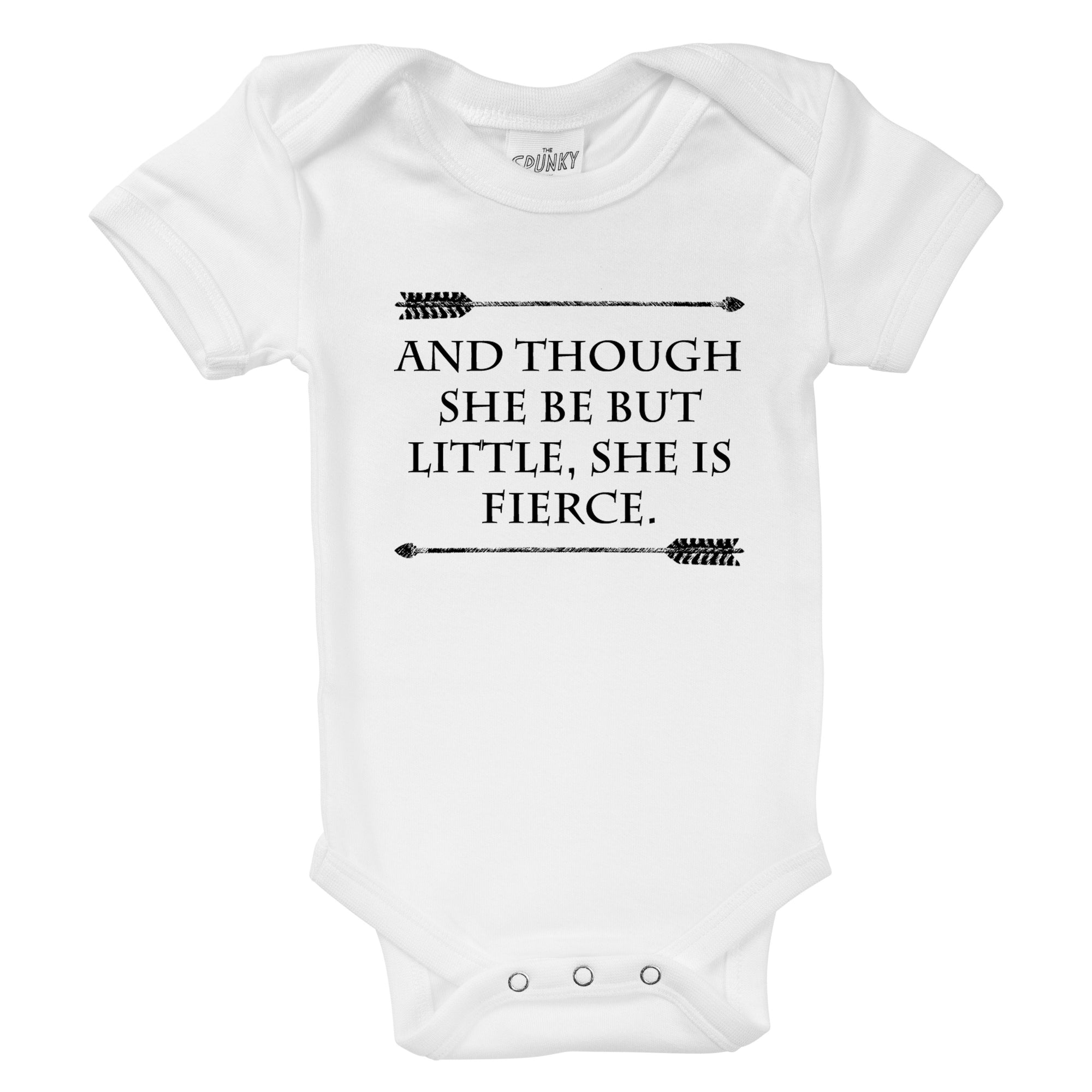 Baby Onesie\u00a9 And Though She Be But Little She Be Fierce Shakespeare Adorable Fashion New Girl Baby Shower Gift Nursery Clothing Gerber\u00a9