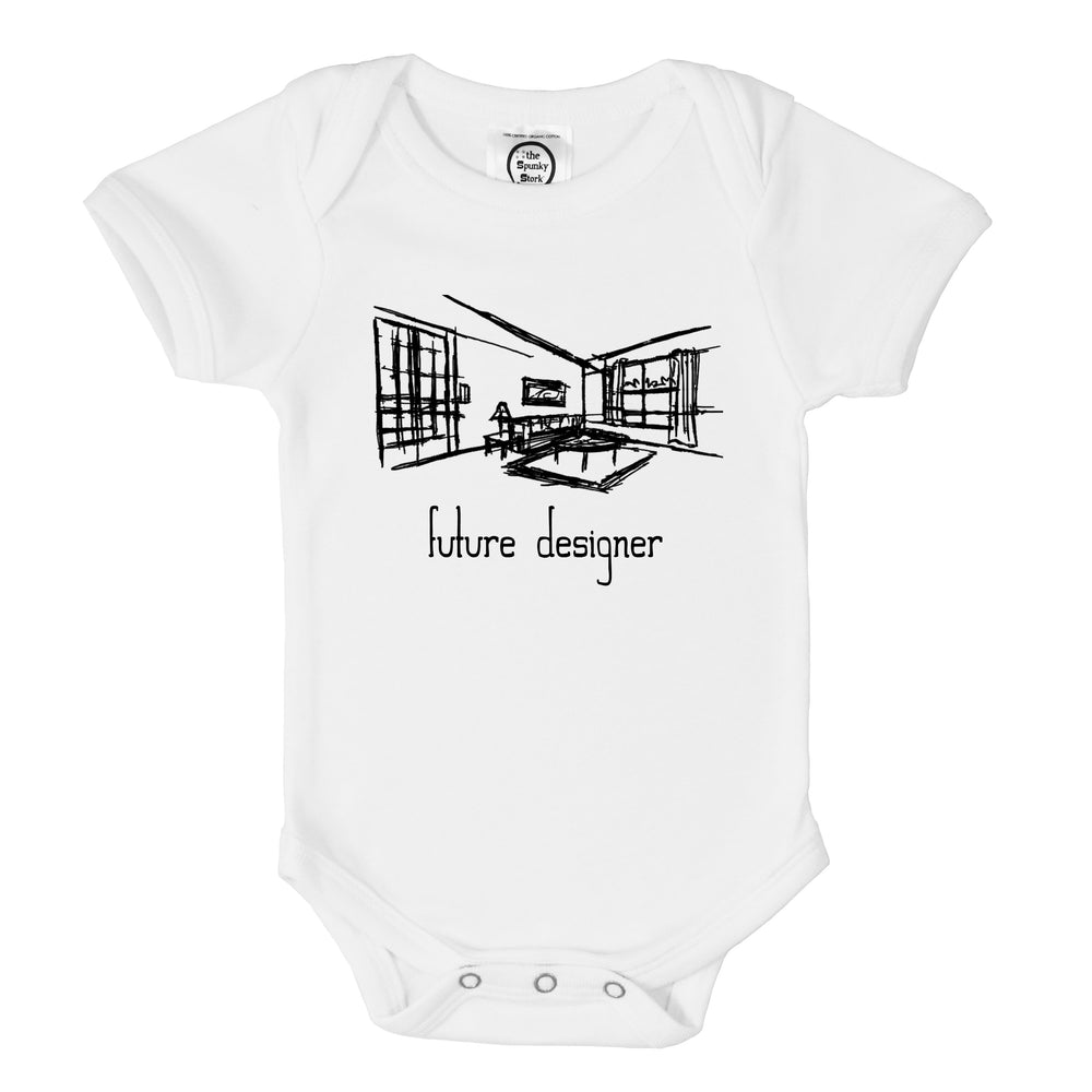 future interior designer sketch organic cotton baby onesie toddler shirt
