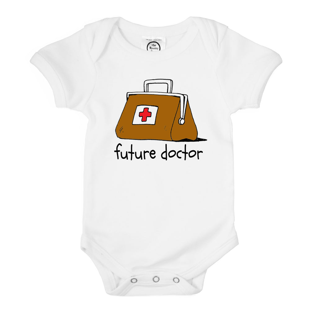 future doctor bag organic cotton baby onesie toddler shirt