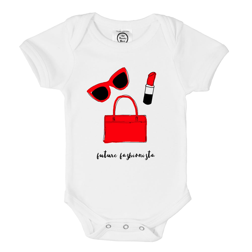 Future Fashionista Super Model Organic Cotton Baby Onesie Toddler Girl Shirt