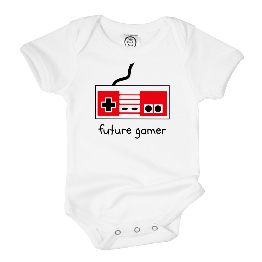future gamer retro style organic cotton baby onesie toddler shirt