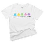 hanging with my peeps baby boys toddler girls easter graphic organic cotton onesie kids tee shirt