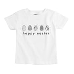 monochrome happy easter eggs unisex organic baby onesie toddler kids graphic tee shirt