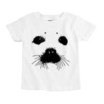 harp seal face organic cotton baby bodysuit toddler shirt