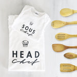 head souf chef taste tester daddy mommy & me matching baby onesie toddler youth ladies mens adult shirt set