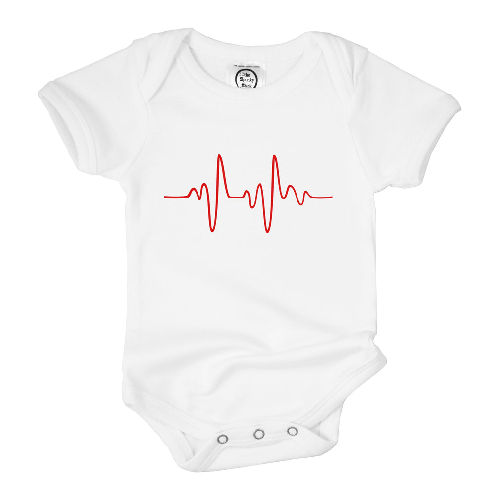 heart beat ekg organic cotton newborn hospital rainbow baby preemie onesie