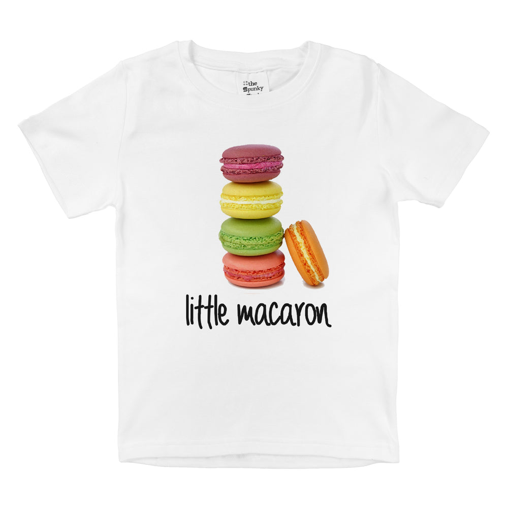 little macaron stack organic cotton baby girl onesie toddler shirt