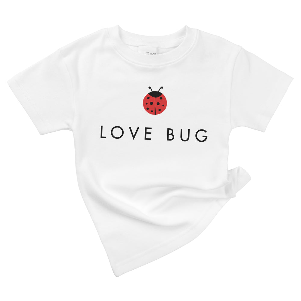 love bug ladybug organic cotton baby girl onesie toddler graphic tee shirt