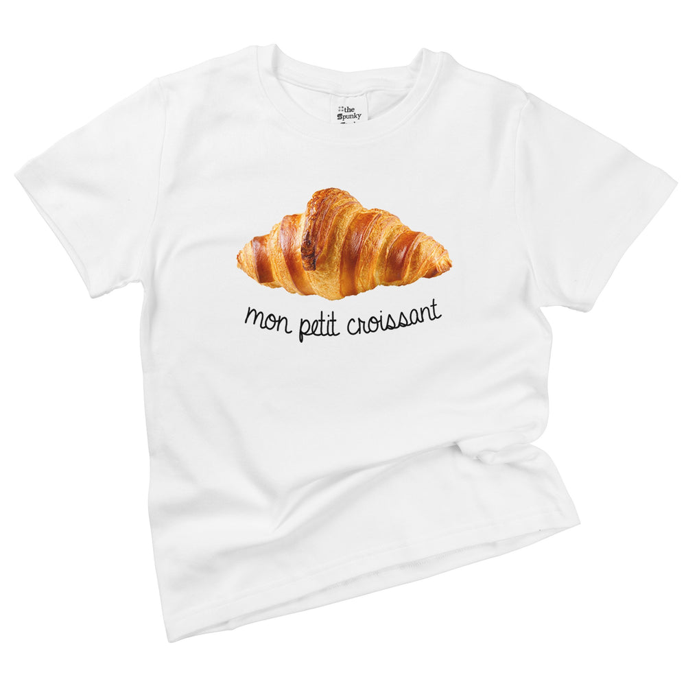 mon petit croissant organic cotton french baby onesie toddler shirt