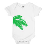 green palm tree leaves fronds organic cotton baby onesie toddler shirt