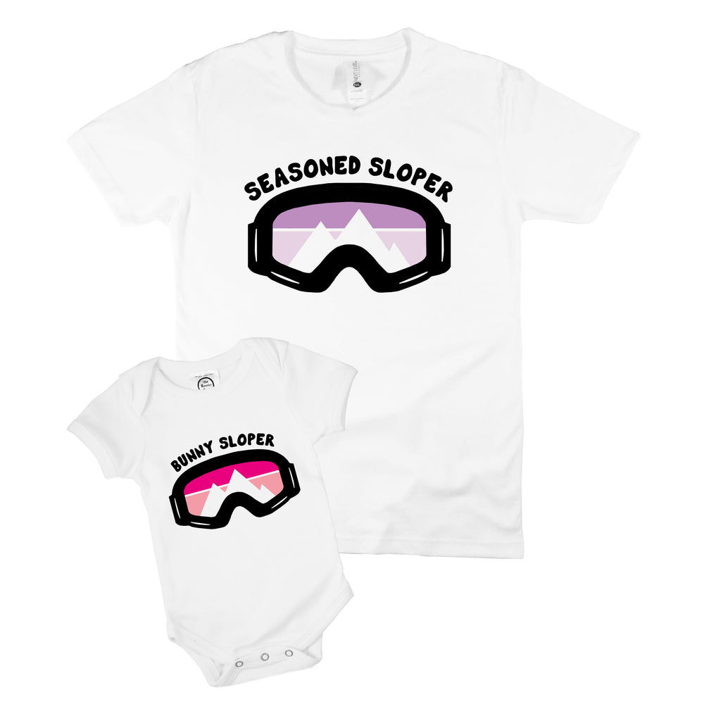 matching mommy daddy me siblings shirt family ski trip skiing lift instructor school apres twinning baby toddler gift