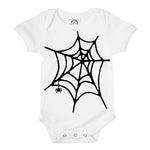 spider web halloween organic cotton baby graphic onesie