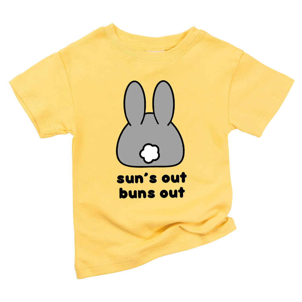 suns out buns out spring summer easter bunny baby boys toddler girls kids organic graphic rabbit tee shirt