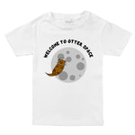 otter space funny pun unisex baby onesie toddler kids youth tween graphic sayings organic tee shirt
