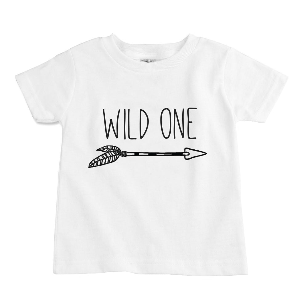 wild one first birthday tribal arrow organic cotton unisex baby onesie toddler shirt