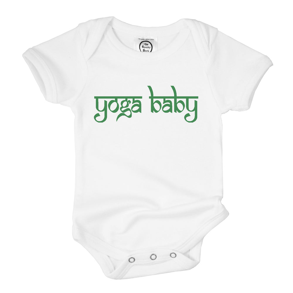 Yoga baby Indian Namaste organic cotton unisex onesie mini yogi