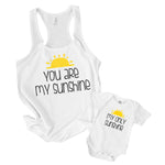 you are my sunshine my only sunshine matching mommy and me t shirt and baby onesie toddler shirt set
