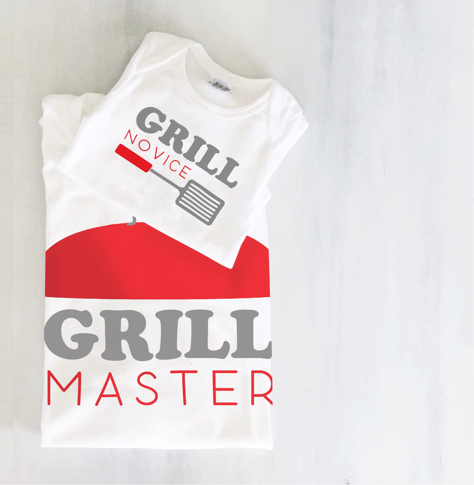 grill master bbq king father & son daughter matching daddy and me baby toddler youth shirt set father day gift