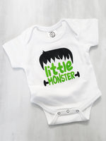Little Monster Frankenstein Halloween Costume Organic Cotton Baby Bodysuit Toddler T-Shirt