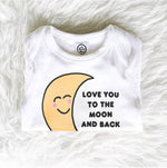 i love you to the moon and back organic cotton unisex preemie newborn baby onesie shower gift