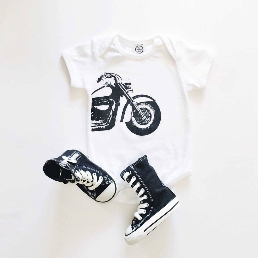 motorcycle organic cotton baby onesie toddler shirt