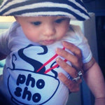pho sho noodle bowl with chopsticks organic cotton asian baby onesie toddler shirt