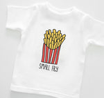 small fry red pink and blue organic cotton french fries baby onesie toddler shirt