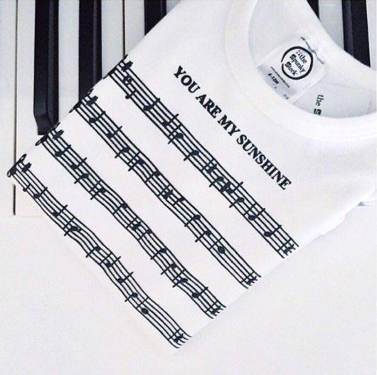 you are my sunshine song sheet music organic cotton baby onesie shower gift