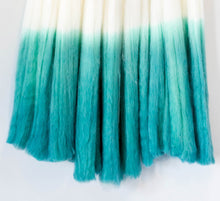 Load image into Gallery viewer, audrey, dip dye, dip dyed wall hanging, rit dye, dip dying, roving, roving wall hanging, wallhanging ideas, wall hanging ideas wall decor, minimalist wall art, minimalist wall decor, wall hangings for living room, becky pollard, seven sixteen