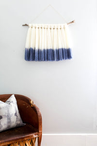 mia, dip dye, dip dyed wall hanging, rit dye, dip dying, roving, roving wall hanging, wallhanging ideas, wall hanging ideas wall decor, minimalist wall art, minimalist wall decor, wall hangings for living room, becky pollard, seven sixteen