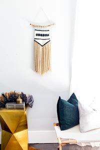 avery, twill, weaving twill, twill pattern, wallhanging ideas, wallhanging ideas wall decor, weaving wallhanging, weaving art, minimalist wall art, minimalist wall decor, wall hangings for living room, becky pollard, seven sixteen