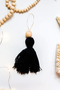 Black Tassel Ornament