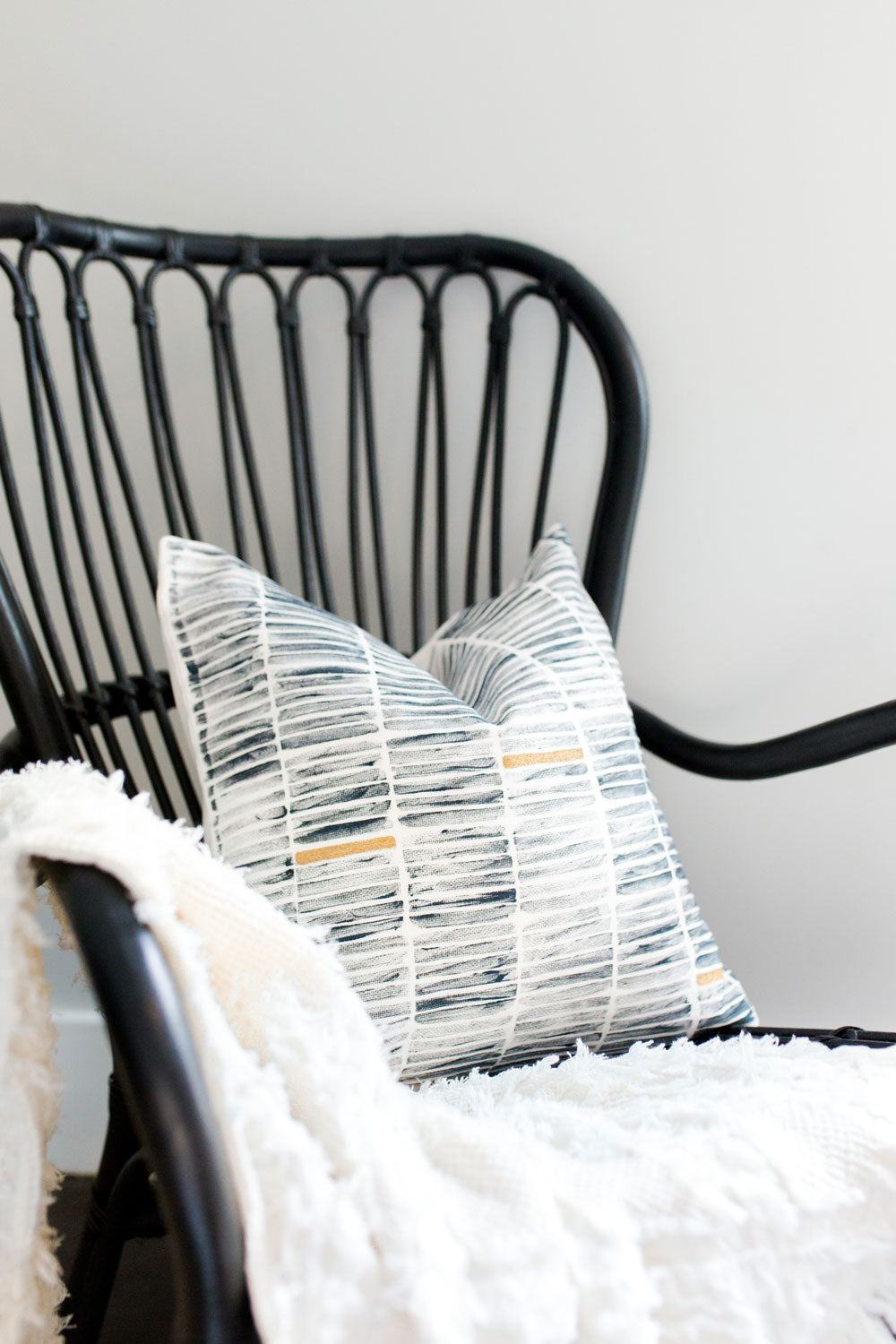 block printing, block print stripe, striped pillow, modern stripe, modern stripe pillow, metallic pillow, navy and gold pillow, seven sixteen, becky pollard